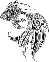 Fish, monochrome