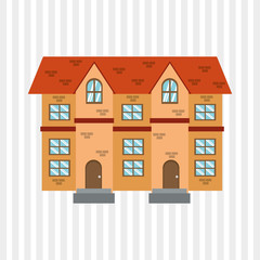 Illustration of building , vector design, building and real estate related