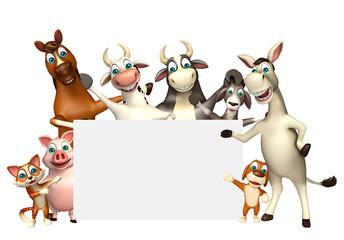 farm animal with white board