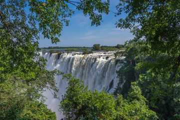 The Victoria Falls is the largest waterfall in the world and is a world heritage landmark