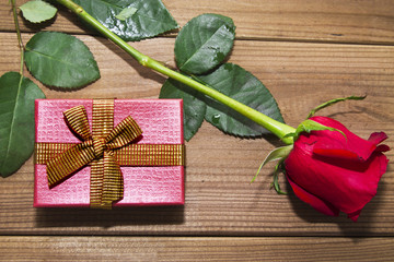 rose and gift box