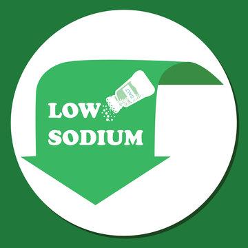 low sodium label green in food salt ingredients symbol logo