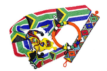 Collection of Traditional Colorful Zulu Beadwork
