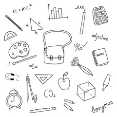 Back to School doodle icon illustration