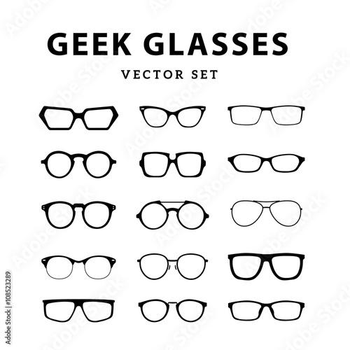 6e278591fba Set of glasses. Vector illustration on white background. Glasses ...