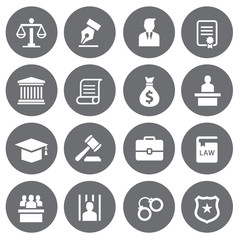 Law firms icons set