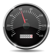 Speedometer. Speed gauge at 60