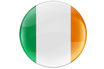 Ireland  Button Flag