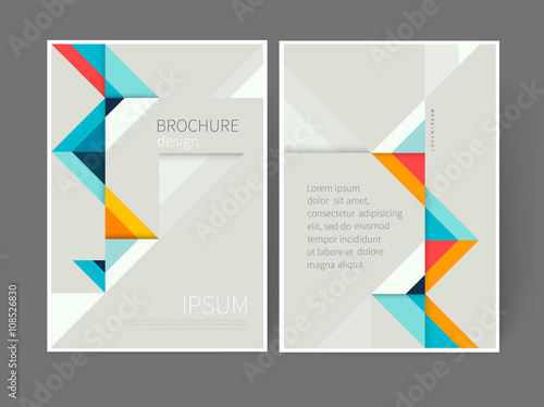 cover design template brochure leaflet flyer catalog page poster design origami abstract geometric background minimalistic design creative concept