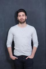 cool Arabic  man with beard portrait