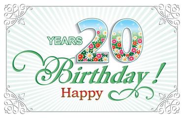 Happy Birthday 20 years