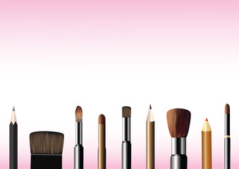 Cosmetic brushes and pencils