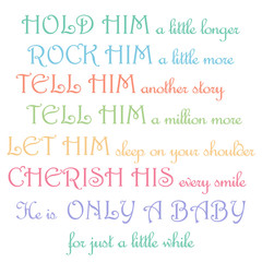 Cute Quote About  Little Baby