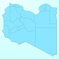 Libya blue map on degraded background vector