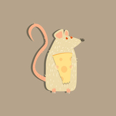 Rat Holding Cheese Image