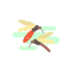 Two Mosquitos Illustration