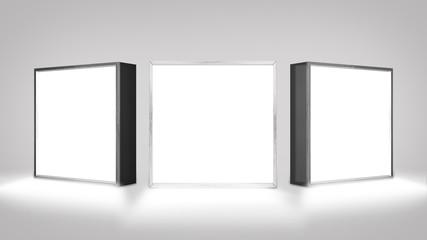 Lightbox On white Background 3D rendering  Wall mural