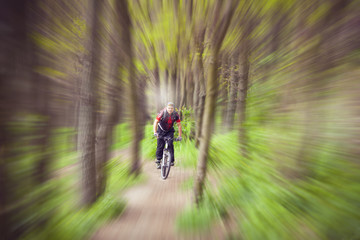 Rider in action at Freestyle Mountain Bike Session.