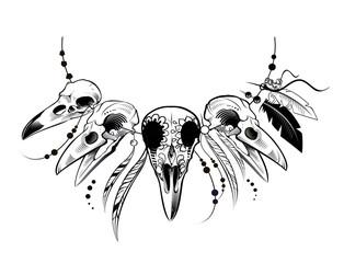 Raven Sugar Mexican Skull. Raven Skull