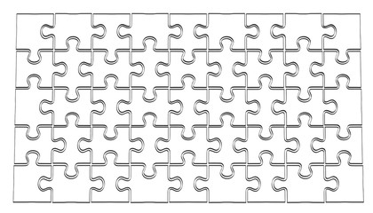 2d cartoon illustration of puzzle