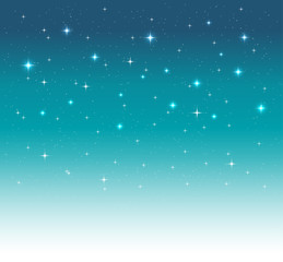 night sky background with shimmering light and stars. vector