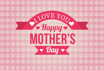 Happy Mothers Day Badge Design