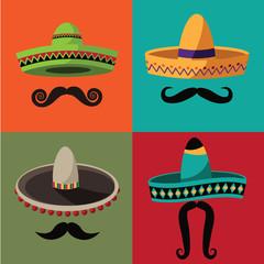 Cinco De Mayo (Mexican holiday celebrating the fifth of May) sombrero flat design. EPS 10 vector.