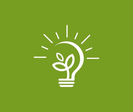 Bulb plant logo
