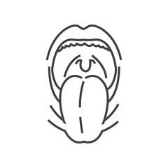 Tonsillitis, Medical Doctors Otolaryngology icon, line icon Styl