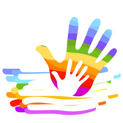 hand rainbow illustration