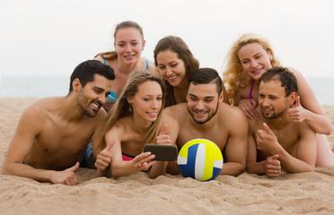 Friends beach selfie