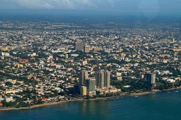 Luftaufnahme von Santo Domingo, Dominikanische Republik