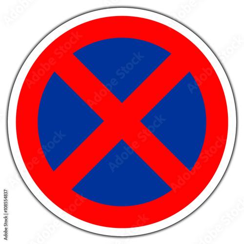 panneau routier en france arr t et stationnement interdits photo libre de droits sur la. Black Bedroom Furniture Sets. Home Design Ideas