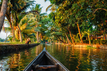 Kerala backwaters  canoeing