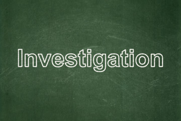 Science concept: Investigation on chalkboard background