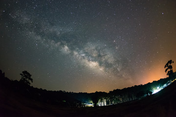 Milky Way over foreast
