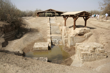 The site where Jesus was baptized in river Jordan, Betania, Jordan