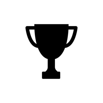 Winner trophy cup icon. Vector illustration.