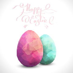 Happy Easter Background with eggs