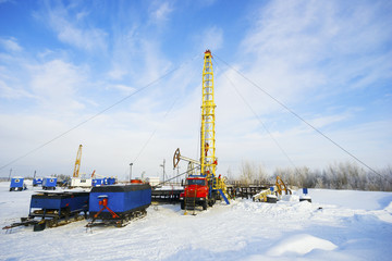 The installation  major repairs oil wells of the winter .