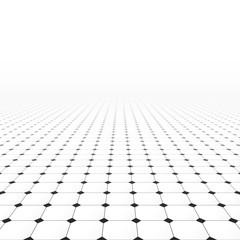 Tiled infinite floor.