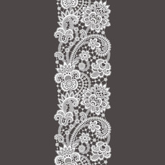 White Lace. Seamless Pattern.
