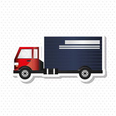 Truck graphic design , editable graphic, industrial transport machine concept