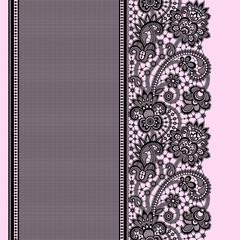 Black Lace Seamless Pattern.