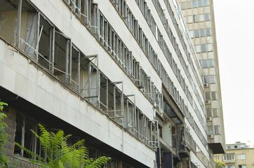 Ruin of Ministry of Defense Building - Belgrade - Serbia