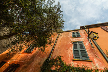 Traditional architecture in rural Italian village