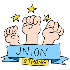 Strong union fists