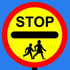 School crossing patrol order sign