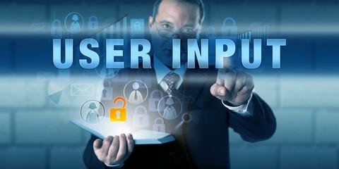 Corporate User Pressing USER INPUT