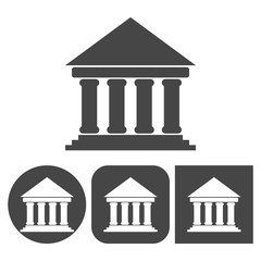 Bank icon - vector icons set